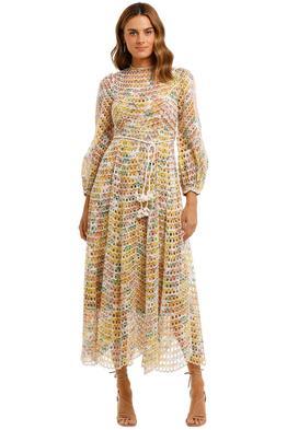Zimmermann Poppy Eyelet Midi Dress long sleeve