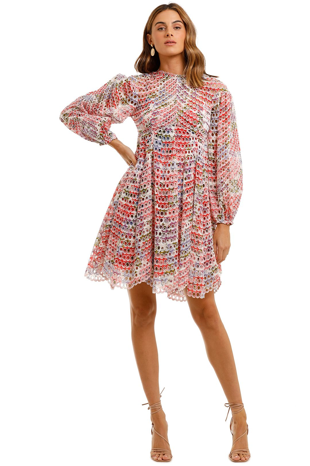 Zimmermann Poppy Ramie Mini Dress eyelet