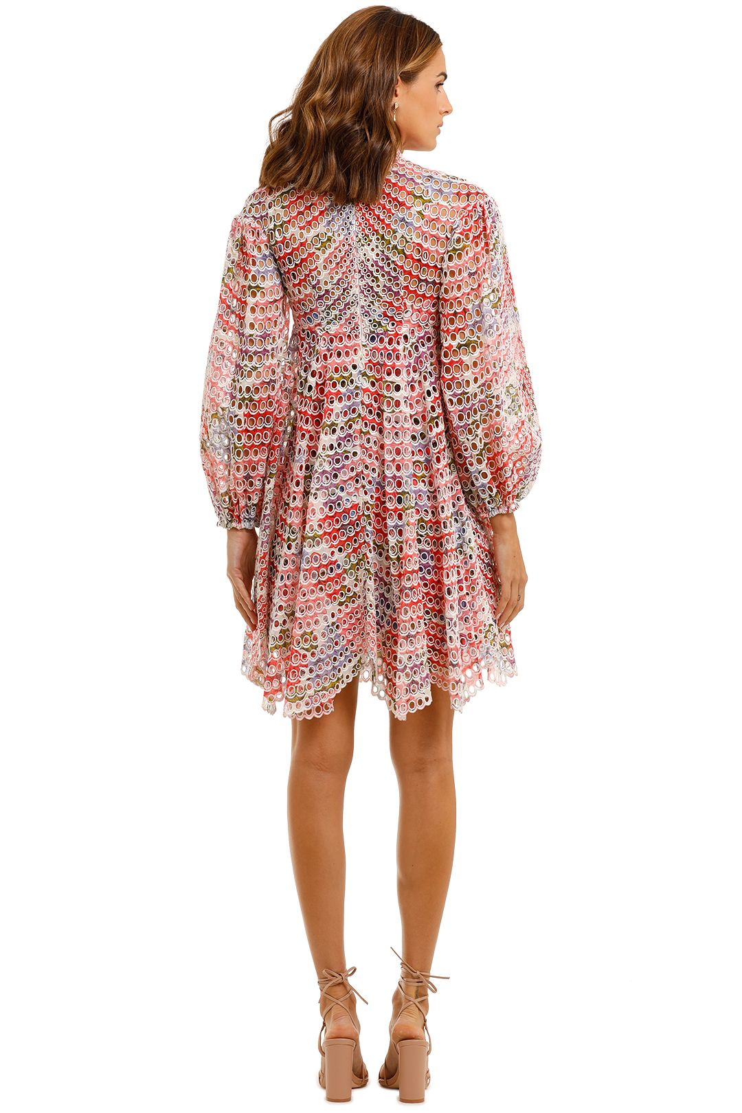 Zimmermann Poppy Ramie Mini Dress floral multi