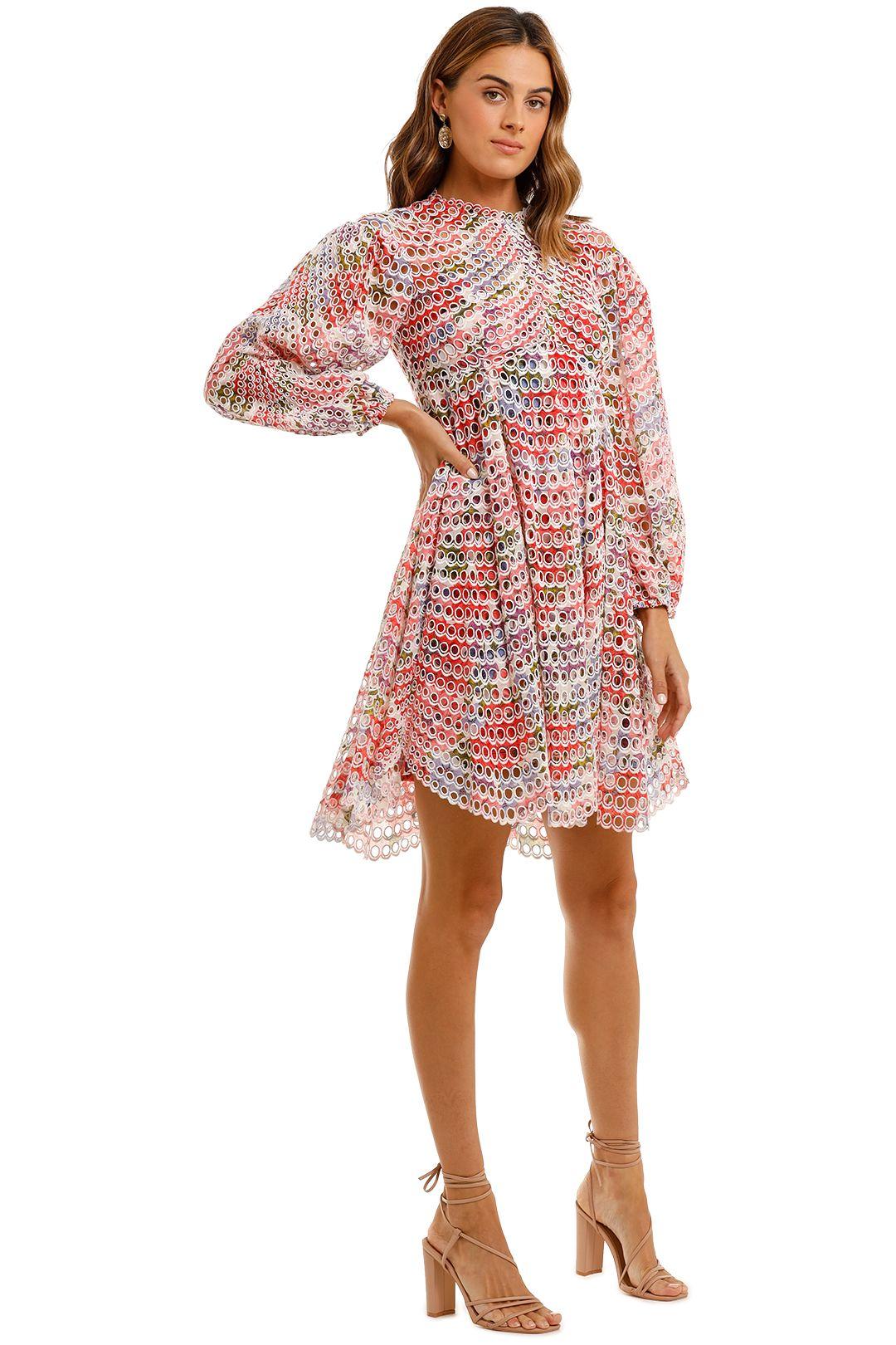 Zimmermann Poppy Ramie Mini Dress long sleeve