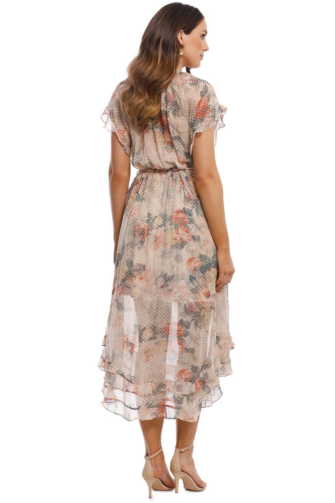 Zimmermann - Radiate Cascade Dress - Cream Floral - Back