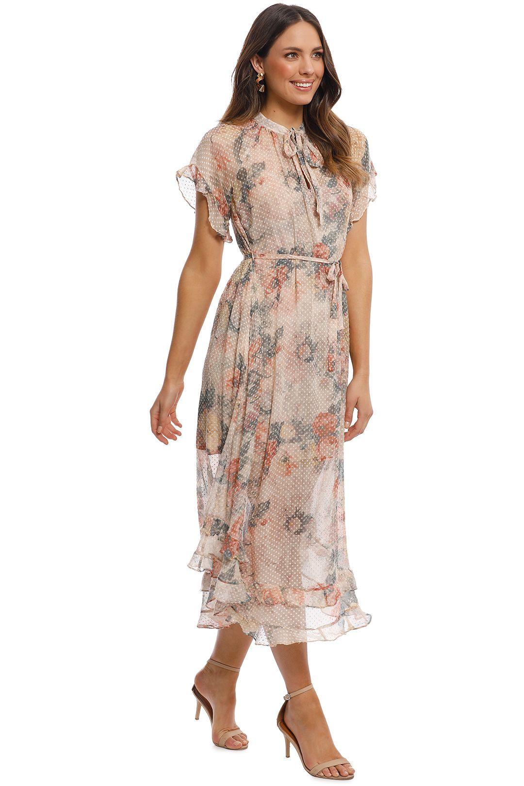 Zimmermann - Radiate Cascade Dress - Cream Floral - Side