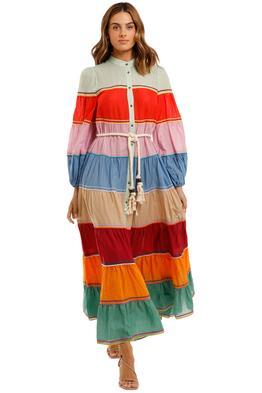 Zimmermann Riders Striped Cotton Voile Dress