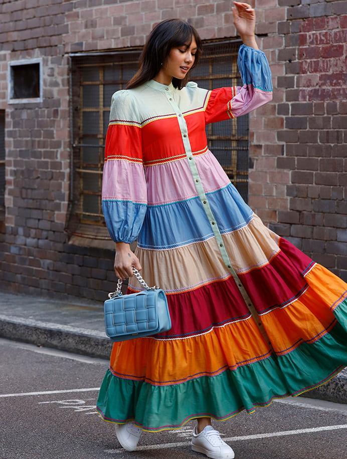 model wearing zimmermann dress