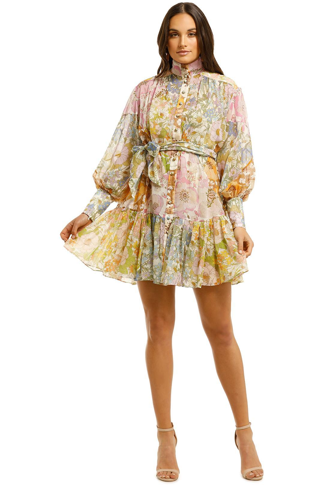 Zimmermann - Super Eight Lantern Mini Dress - Mixed Floral
