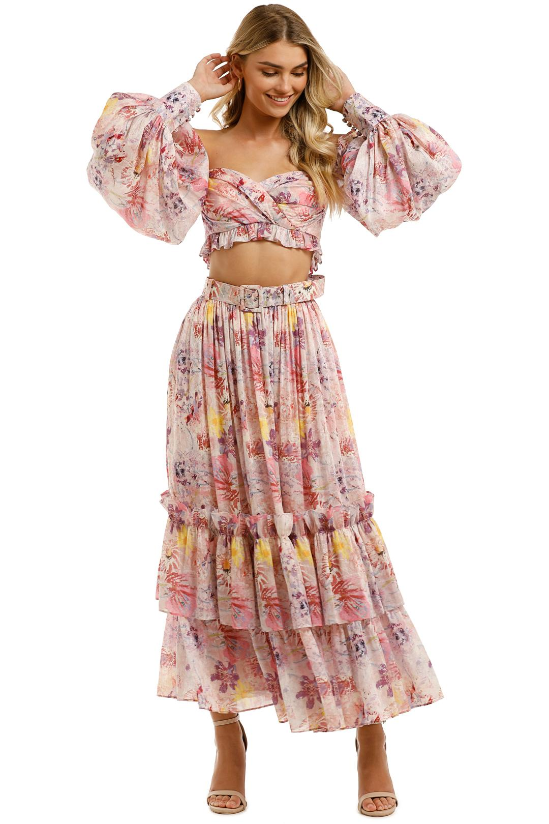 Leo and Lin - Euphoria Silk Linen Bralette and Skirt