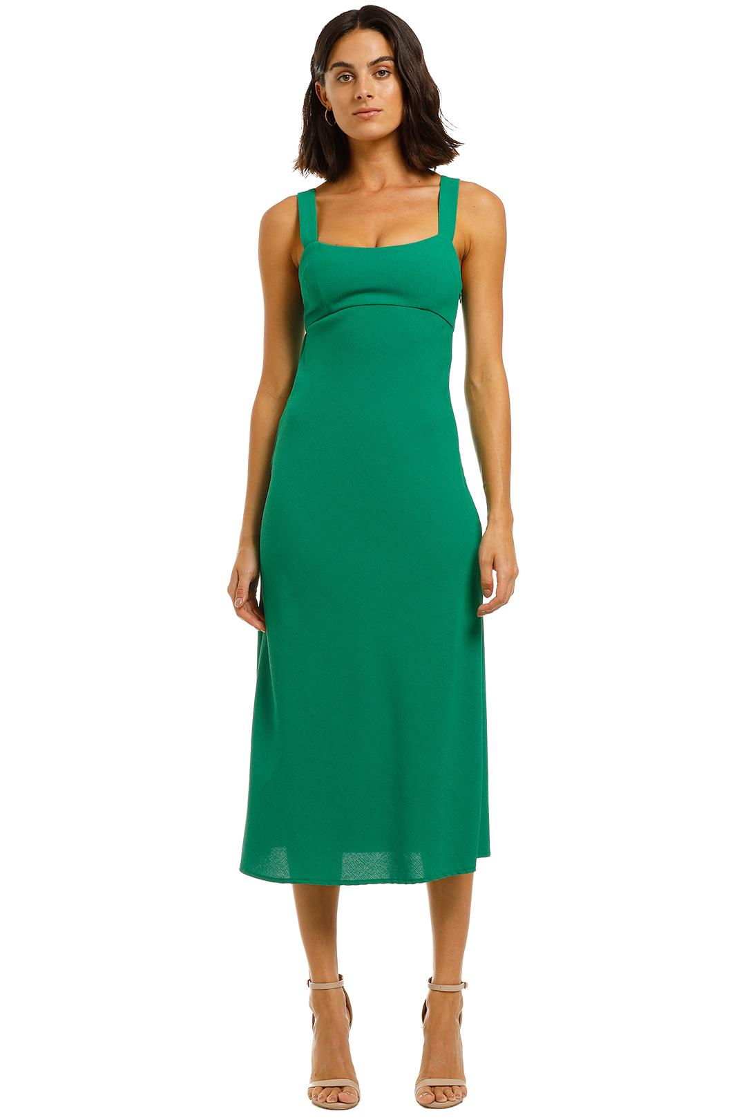 BY JOHNNY - Tayla Bias Midi Dress - Jungle Green