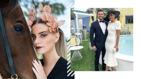 blush-headpiece-black-and-white-dress