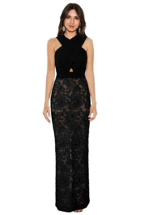 Black Lace Gown EOFY Ball Dress code