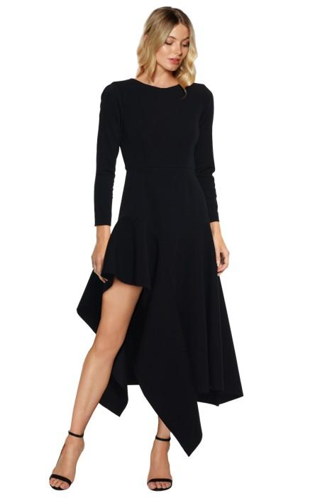 Talulah Wonder LS Midi Dress - dress-over-pants styling