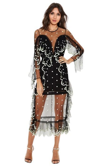 Alice McCall Senorita Dress - Peppermint Black - Wear Sheer