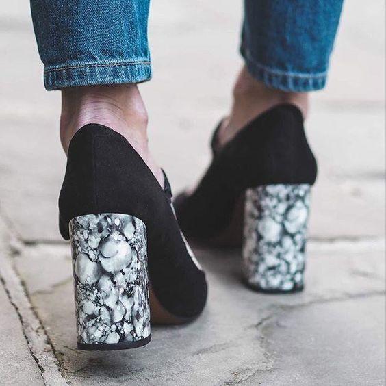 Marble heels for wedding shower