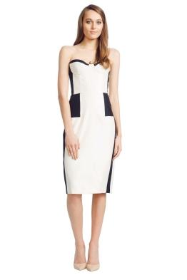 Alex Perry - Venusia Dress - Front - Nude and Black