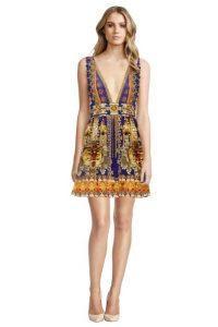 High Tea Party La Chaquetilla V Neck Short Dress