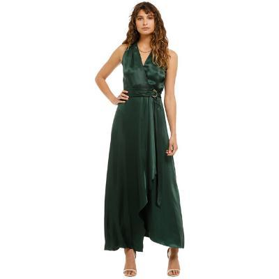 formal-ginger-and-smart-sonorous-wrap-dress-forest-green-front