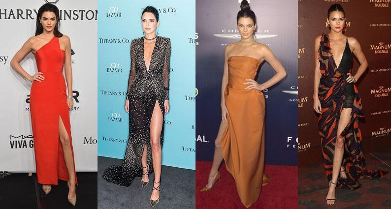 Kendall Jenner birthday structured gowns