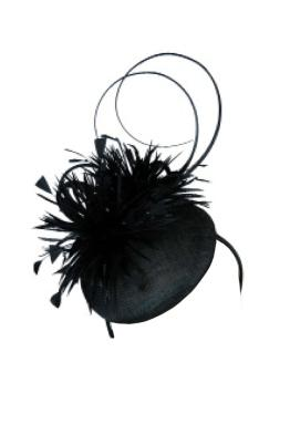 Morgan & Taylor - Black Beret With Feathers