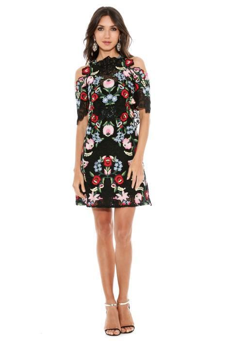 thurley fiesta dress floral socks-and-dress look
