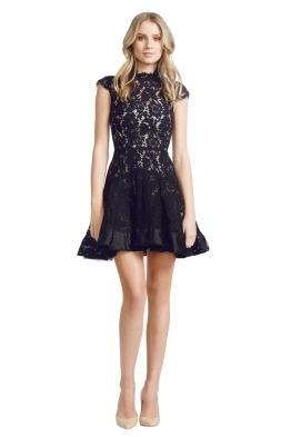 Alex Perry - Ellie Dress - Front - Black