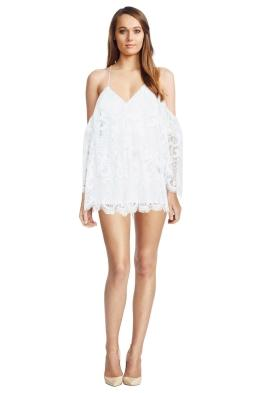 Lucy In The Sky Playsuit White