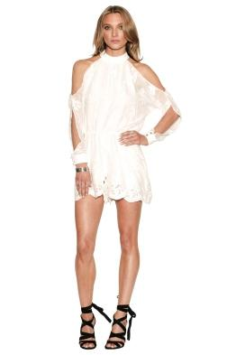 Ministry of Style - Campbell Playsuit Ivory - Front