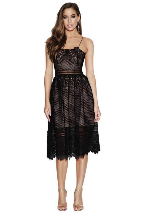 Grace & Hart Frilling Around Flare Midi - Black - Little Black Dress