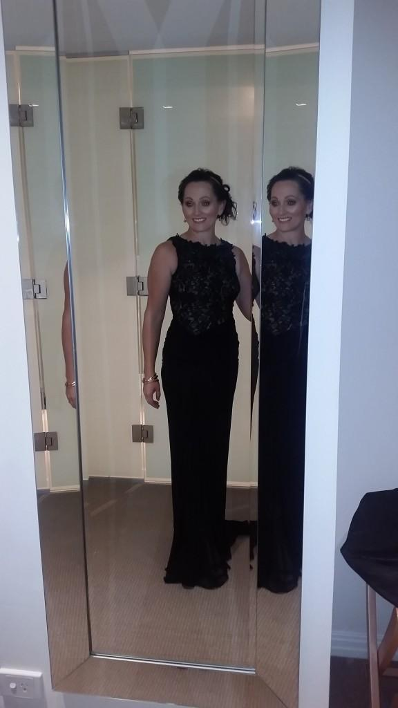 Frances getting ready for the big night