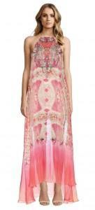 Camilla Sea Serpent Sheer Overlay Dress