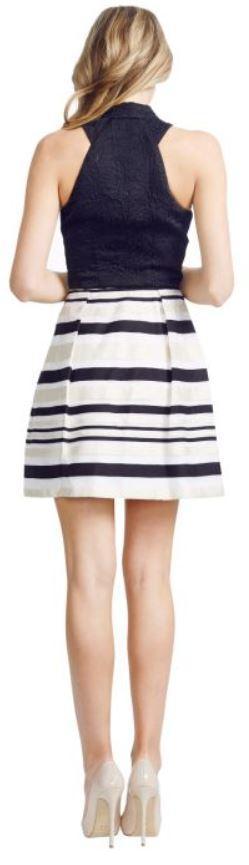 nicola finette stripe skirt