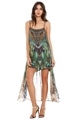 Camilla - Roar of the Wild Sheer Overlay Dress - Front - Prints