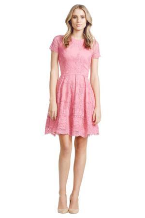 pink calais dress by alex perry