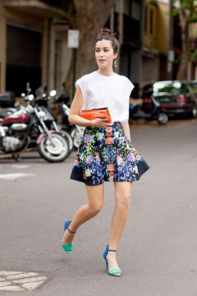 Printed skirt for Christening
