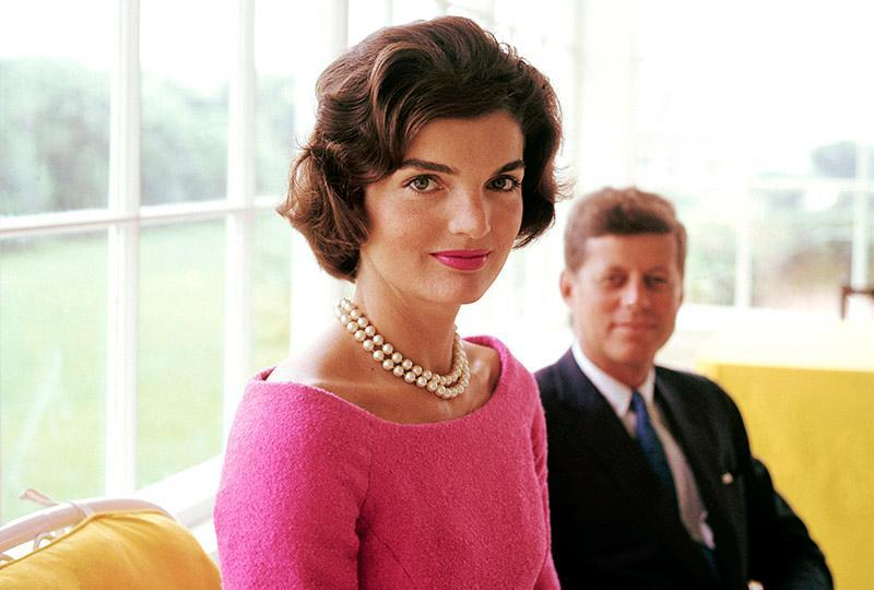 jackie o kennedy pink autumn engagement dresses colour