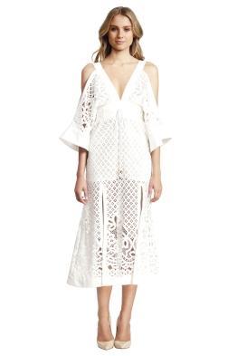Alice McCall - Break my Love Dress White - Front