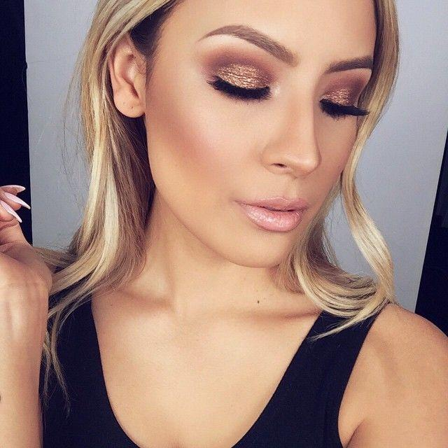 bronze eyeshadow look for the autumn racing carnival