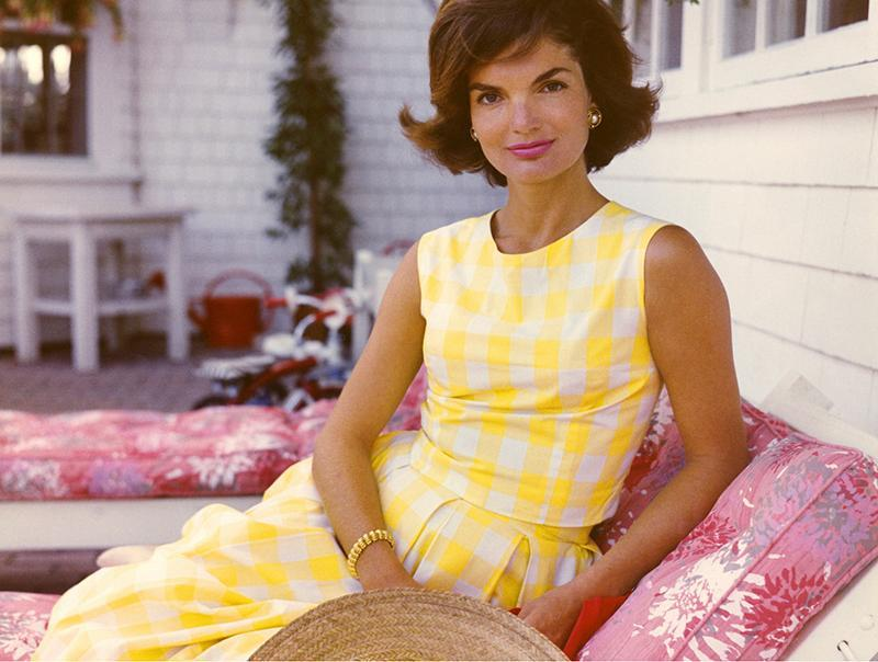 jackie o kennedy autumn engagement party dresses yellow colour