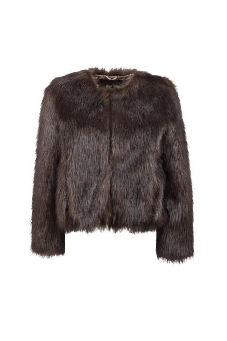 Unreal Fur Unreal Dream Jacket In Chocolate faux fur