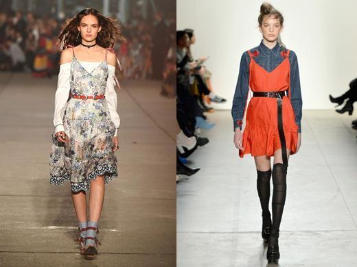 Layers autumn trends runway dress 2017