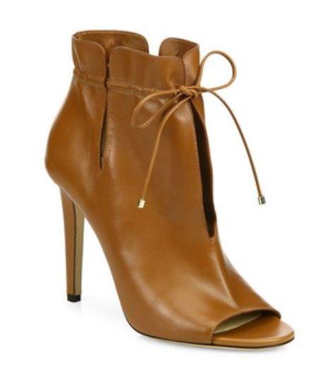 jimmy choo leather peep toe booties