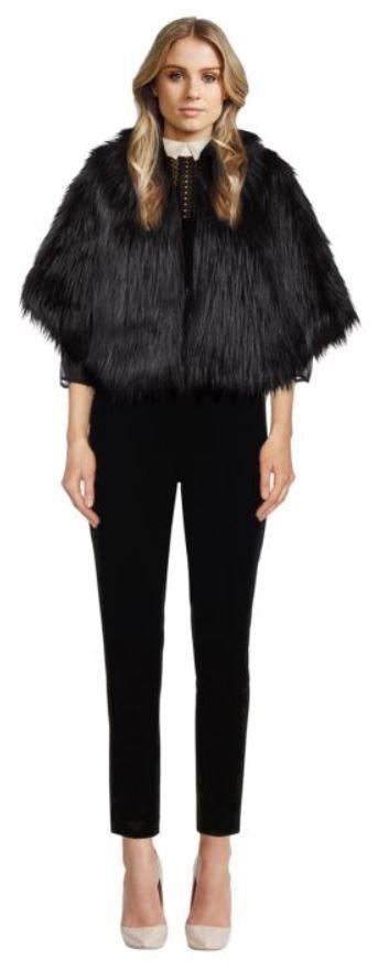 Unreal Fur Faux Fur Cape perfect for cocktail