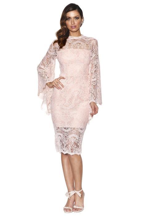 Grace & Hart Majestic Dress Blush Bridesmaid Styling