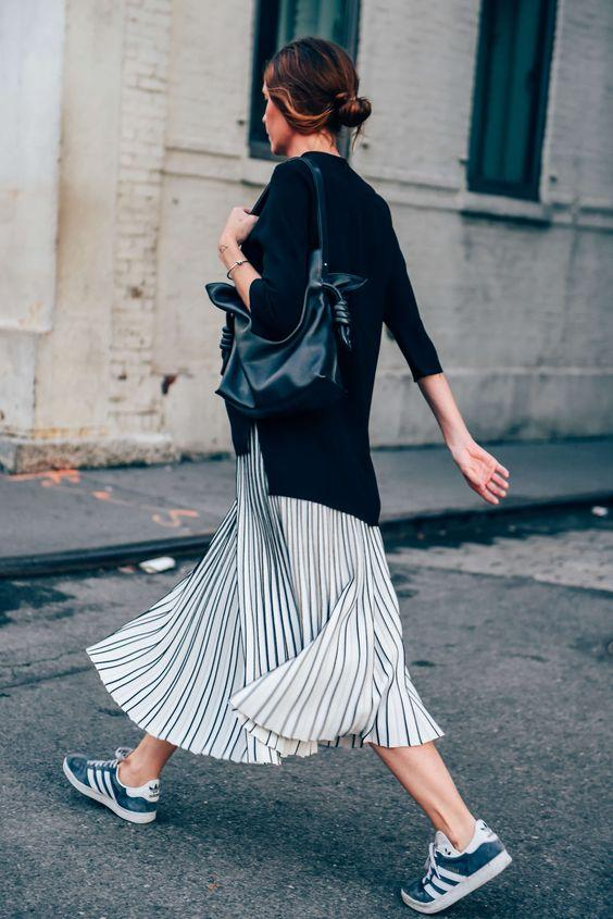 Shoes and midi dresses