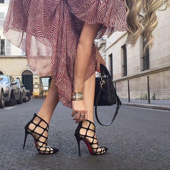 beach wedding strappy heels