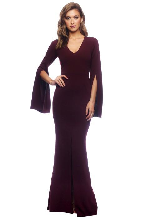 Amaryllis Gown - Wine - Maternity Outfit