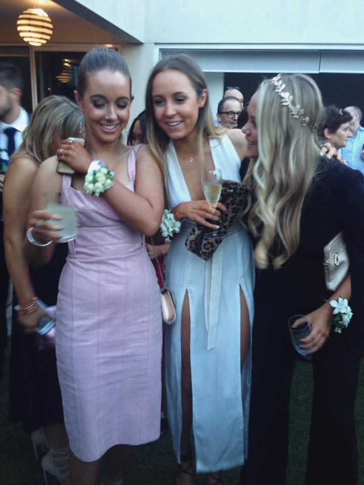 Piper at the formal with her friends