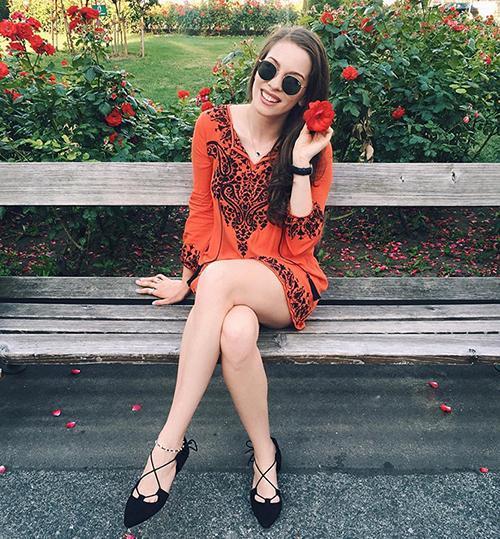 orange instagram looks of kimlianne