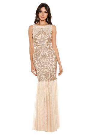 badgley mishka champagne beaded gown wedding dress bridal looks for fall