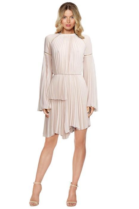 Rachel Gilbert Nyla Dress Nude Bridesmaid Styling
