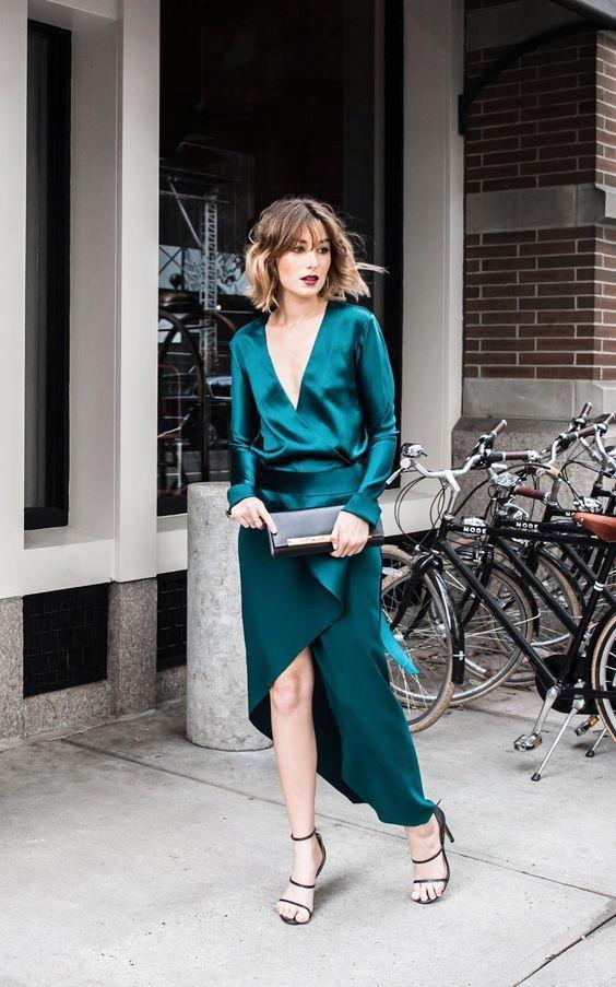 emerald green formal wedding shower dress