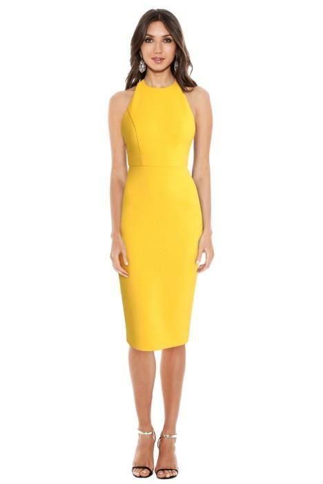 alex perry aileen open back lady dress colour yellow engagement party dresses